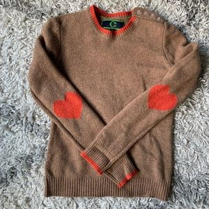 C. Wonder Wool Sweater with Heart Elbow Detail